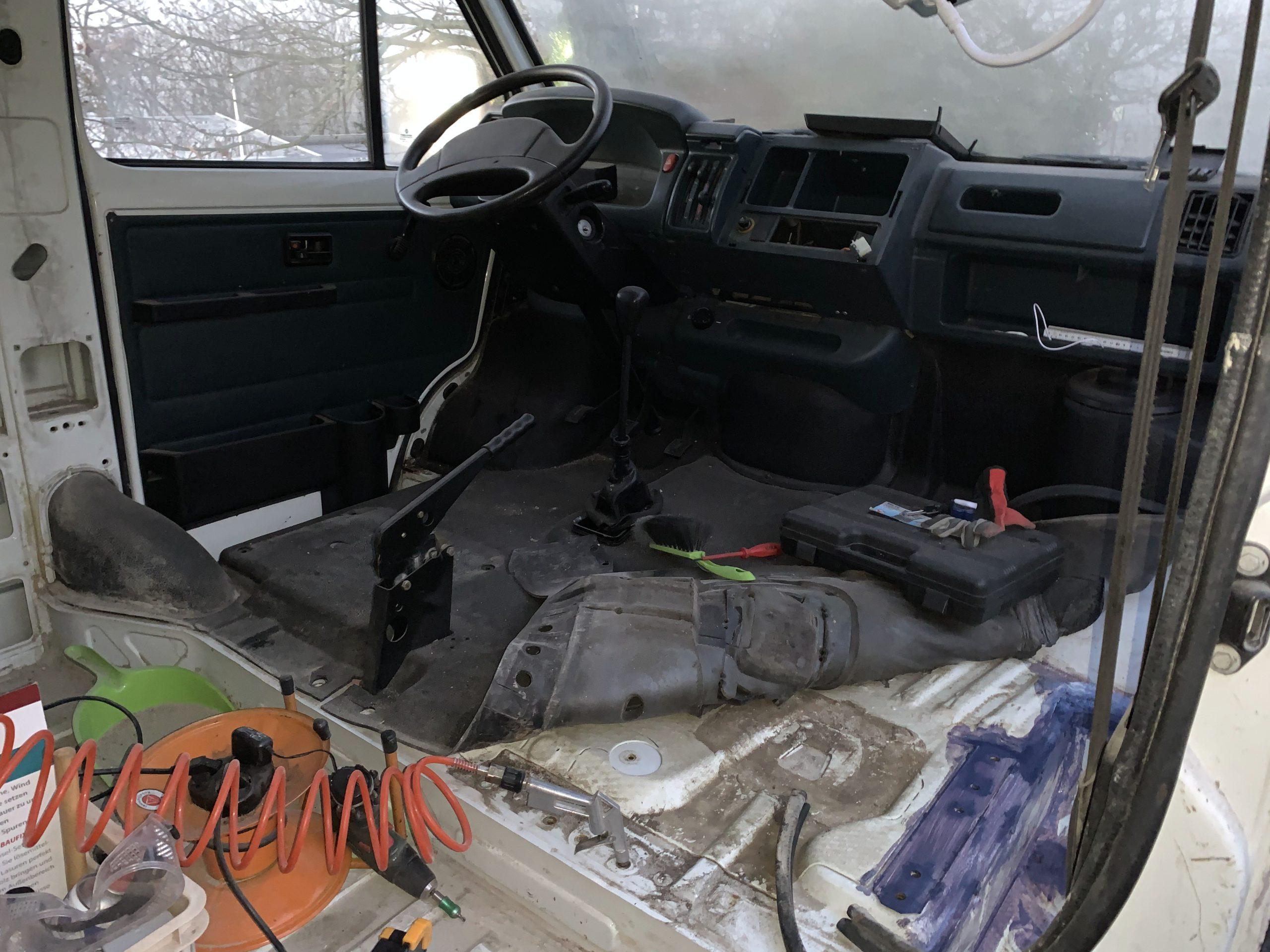 Cockpit nach Entrostung