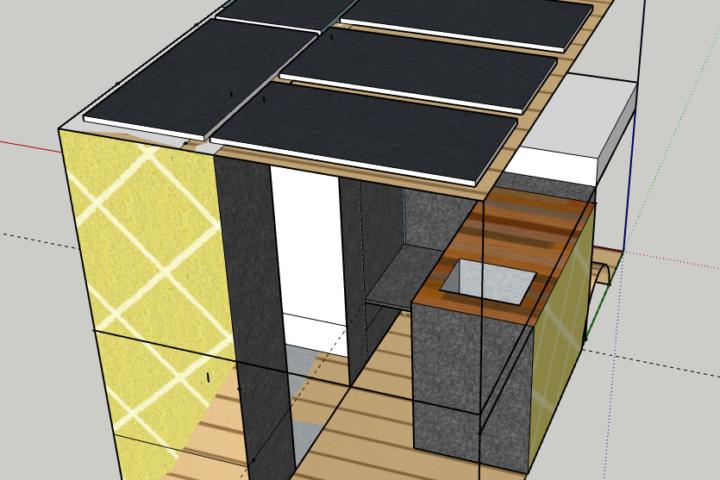 Anordnung Solarpanele