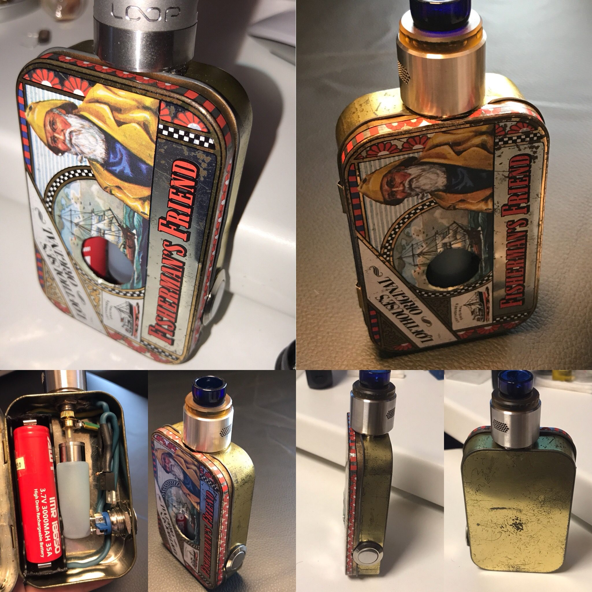 Die Fisherman´s Friend als ein 1s squonker mod.
