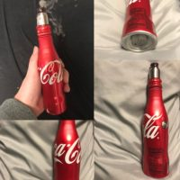 Die Coca Cola Alu Flasche als 21700 Tube Mod