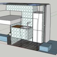 Grundrissplan vom Van in 3D